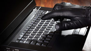 Man Hand with Laptop